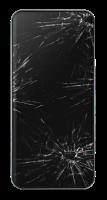 Telefoon met gebroken scherm verwijzend naar pagina voor het maken van afspraken
